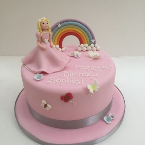 Princess and Rainbow Cake